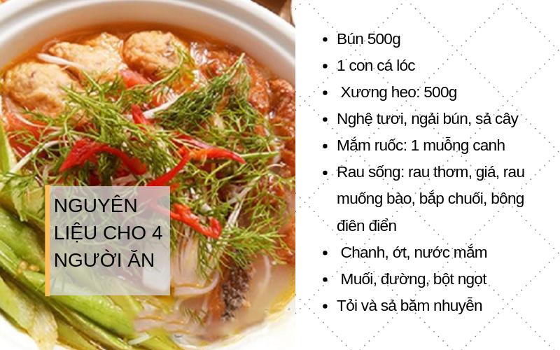 cách nấu bún cá miền Tây