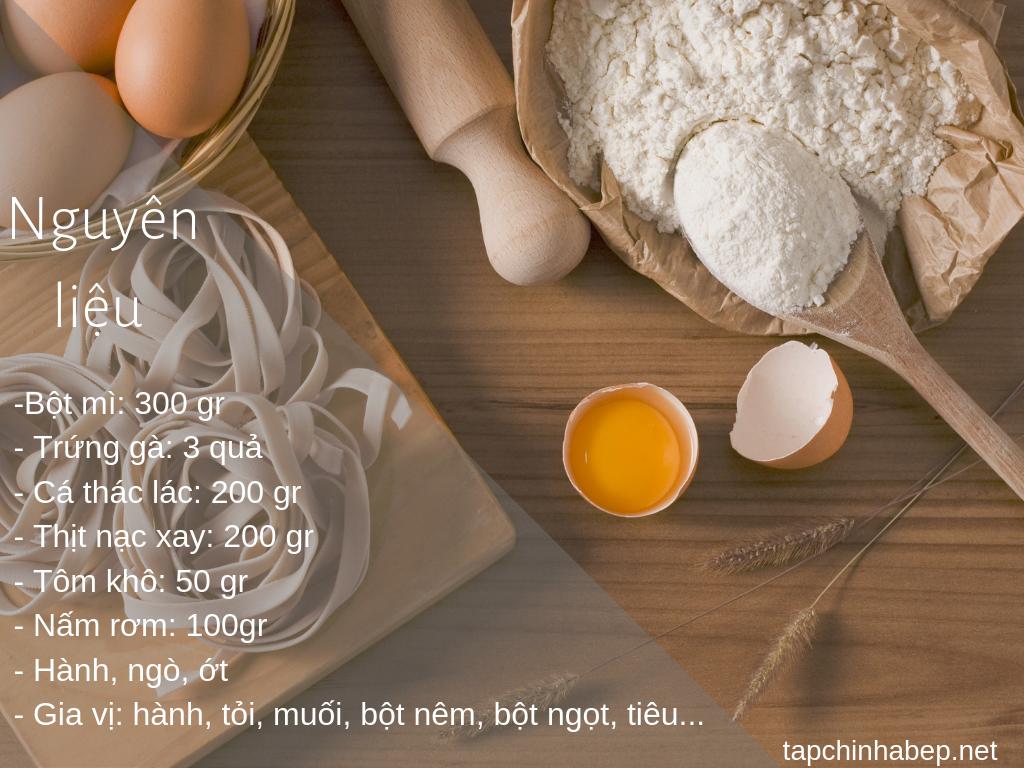 Nguyên liệu làm bánh canh bột mì