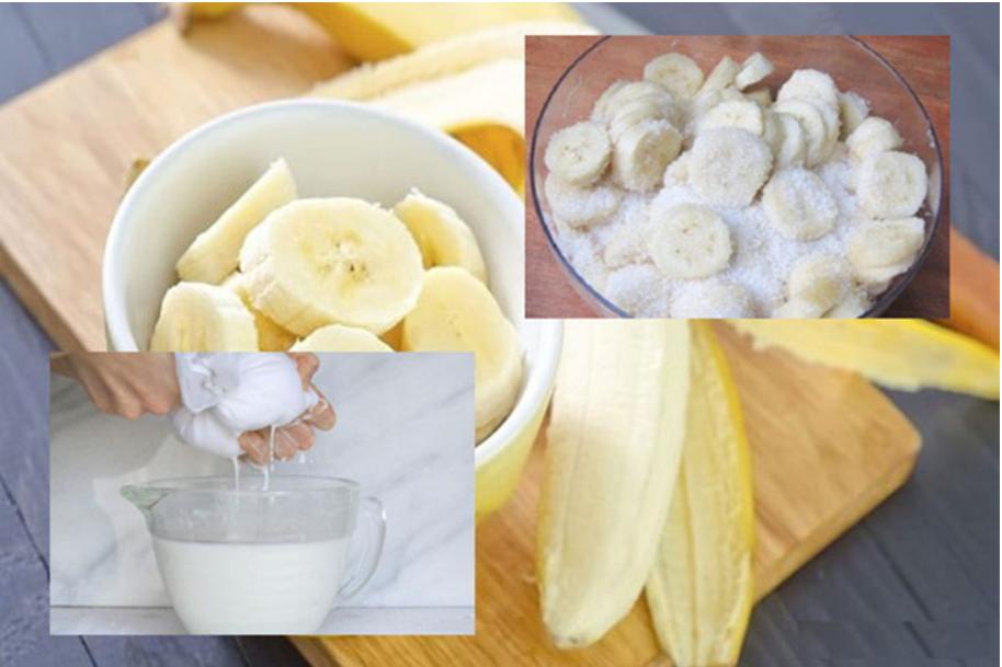 cách làm bánh chuối hấp bột mì 9