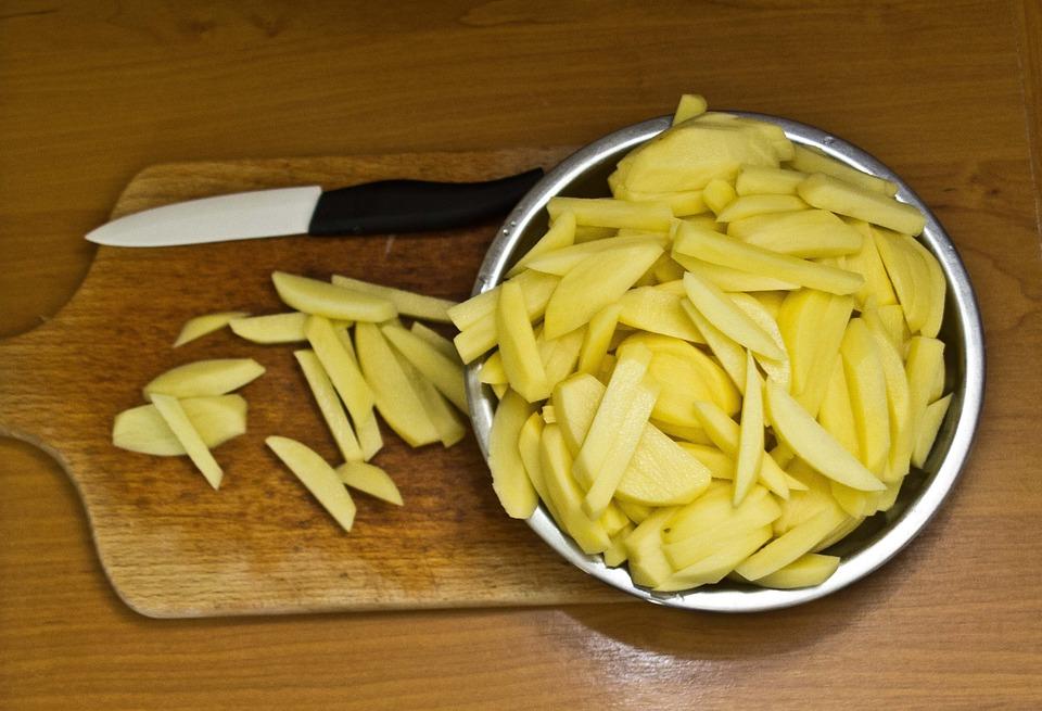 cách làm khoai tây chiên lát mỏng