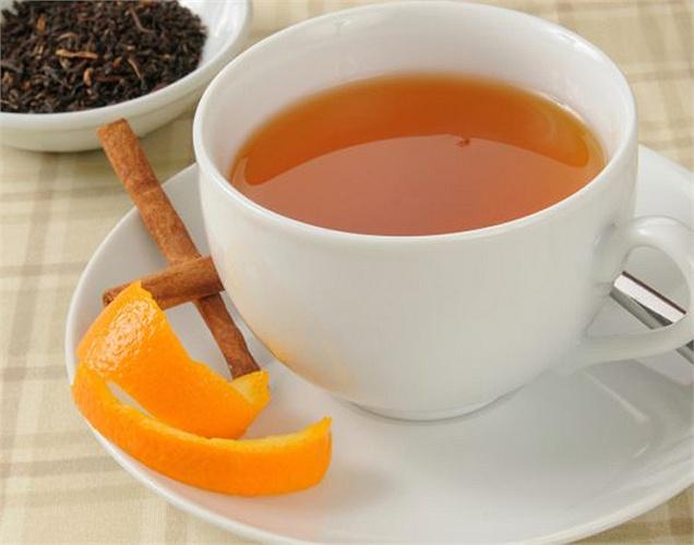 Uống trà vỏ cam
