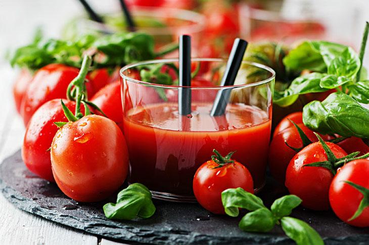 Sinh tố nha đam, cà chua