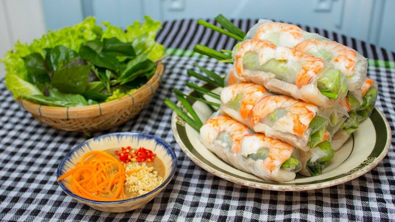 Cách làm gỏi cuốn Nam Bộ siêu ngon ăn hoài không chán
