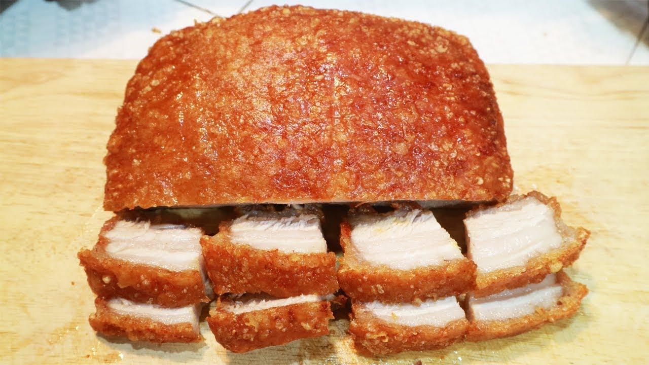 thịt quay giòn bì