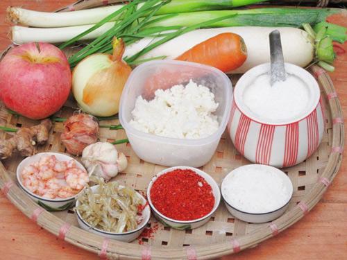 cách muối kim chi củ cải