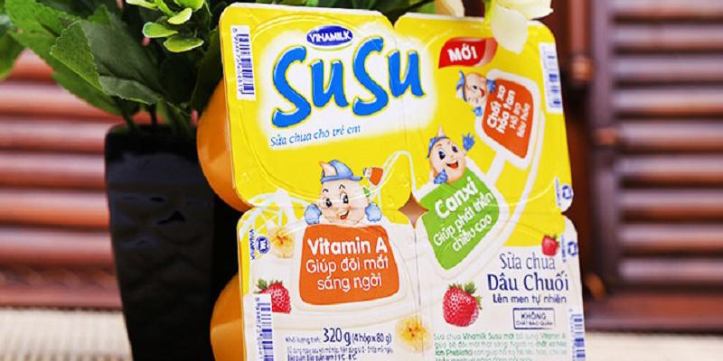 Sũa chua susu cho bé 8 tháng tuổi