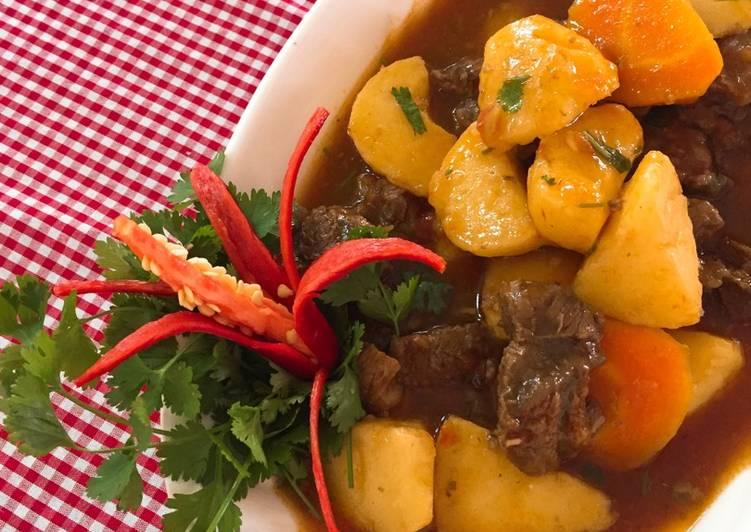 Cách nấu bò sốt vang bằng gói gia vị