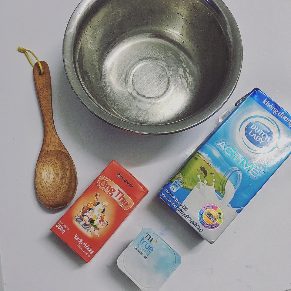 Nguyên liệu làm kem yaourt