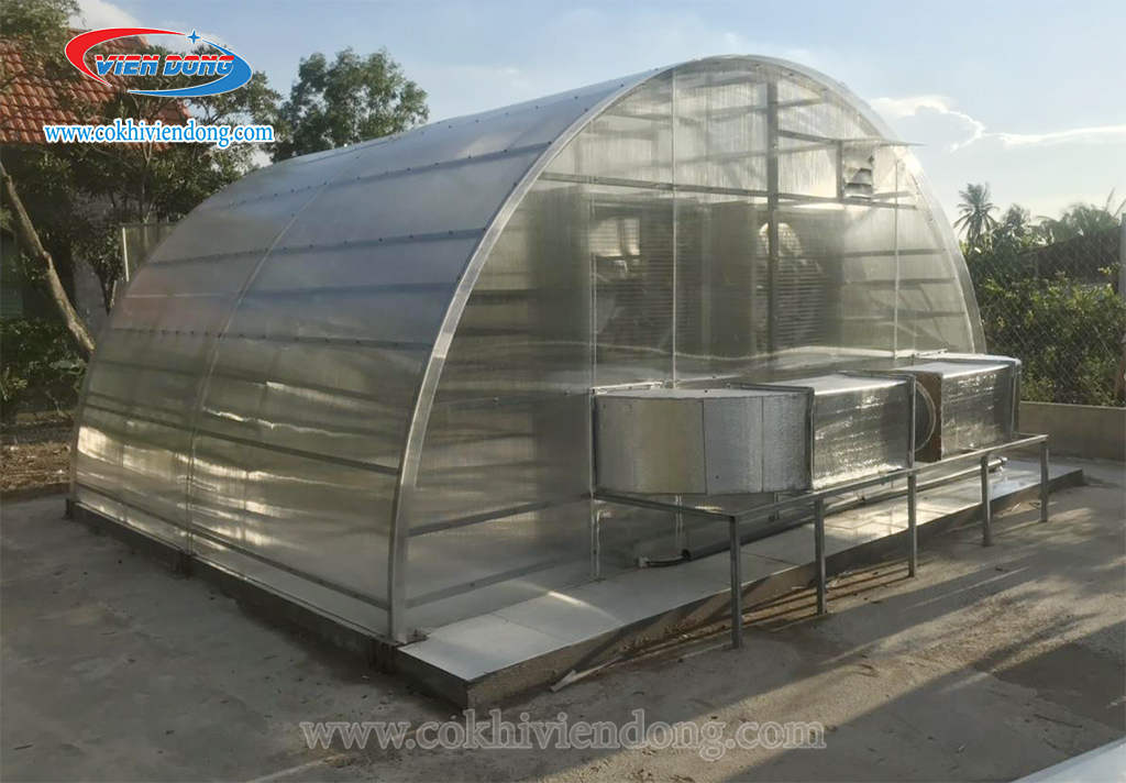nhà sấy cơm cháy năng lượng mặt trời