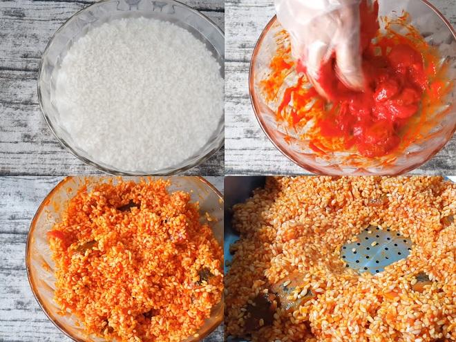 Ngâm gạo với các nguyên liệu tự nhiên