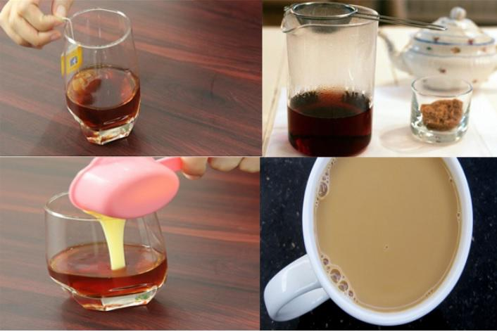 Pha trà sữa